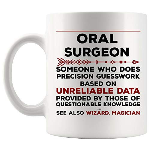 Definition Meaning Oral Surgeon Mug Best Dentist Coffee Cup Gift Precision Gesswork Base On Unreliable Data | Funny Hygienist Gift Pediatric Doctor Graduation Future Orthodontist Dental Assistant