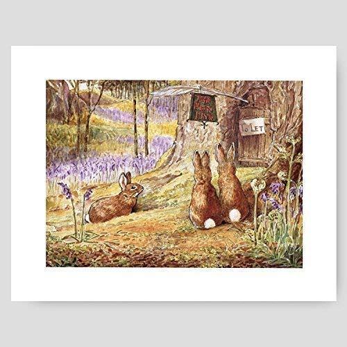 Peter Rabbit Print (Baby Nursery Wall Art, Beatrix Potter Decor)