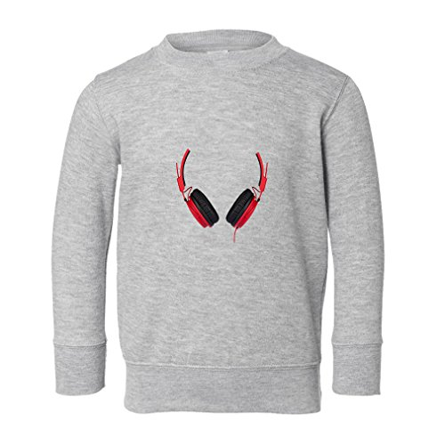 Black And Red Headphones Toddler Long Sleeve Pullover Swe...
