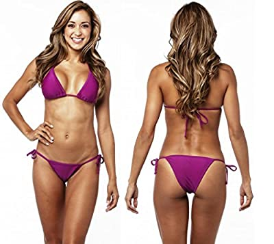 COQUETA Brazilian bikini two piece sexy swimsuit swimwear tie side PURPLE