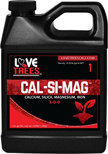 Calcium Magnesium Silica - Hydroponic Plant Nutrients Fertilizer Calcium Supplement - Indoor Plant Food Cal Magnesium Supplement Rooting Liquid Soil Love Trees - Cal-SI-MAG