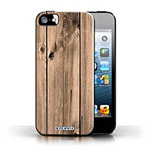KOBALT? Protective Hard Back Phone Case / Cover for Apple iPhone 5/5S | Plank Design | Wood Grain Effect/Pattern Collection