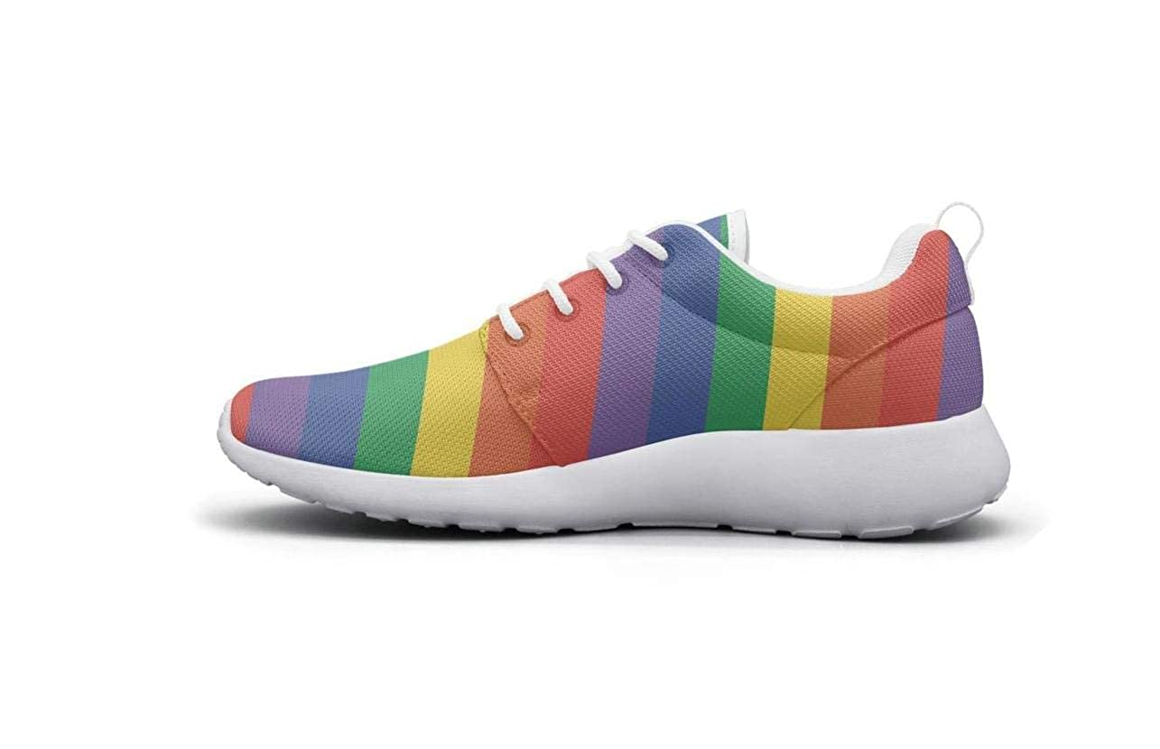 Gay Pride Logo Rainbow Low Cross Woman Cushioning Shoes Cool RubberWork Shoes