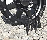 Wheel Accessories Parts Set of 24 Black Spiked
