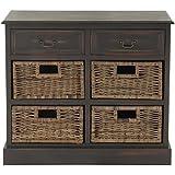 "Deco 79 96253 Wood 4 Basket Dresser, 30"" x 28"""