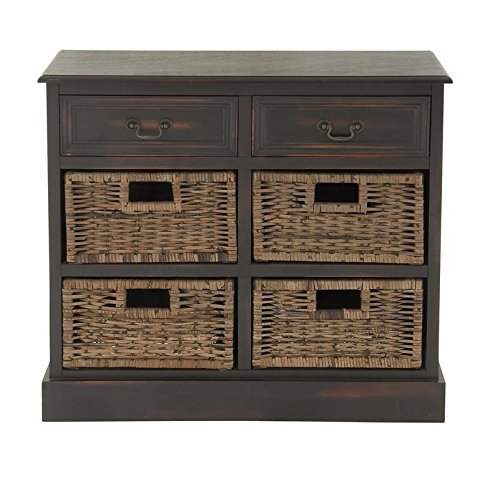 Deco 79 96253 Wood 4 Basket Dresser, 30