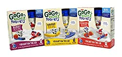 General Variety Pack - Materne Gogo Squeez Yogurtz (12oz) - Strawberry, Berry, Banana