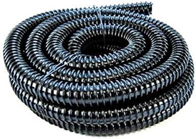 Tubo flessibile corrugato per laghetti venduto al metro colore nero 20/mm