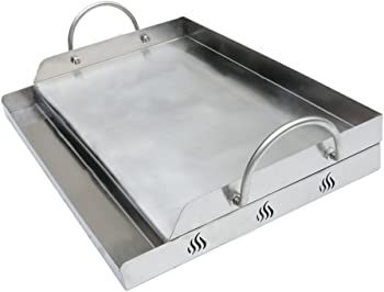 Only Fire Universal Stainless Steel Rectangular Griddle for Gas BBQ