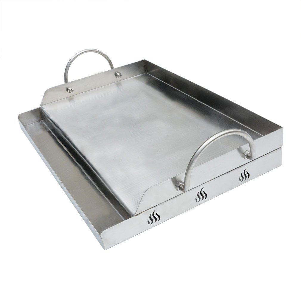 Onlyfire Universal Stainless Steel Rectangular Griddle for Gas BBQ Grills, 23'' x 16''