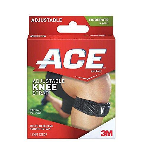 Ace Knee Adjustable Brace (Ace Knee Strap, One Size Adjustable)