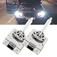 NSLUMO (A Pair) D1S D2S D3S D4S 6000K Xenon HID Repcement Bulb Diamond White Metal Stents Base 12V Car Headlight Lamps Head Lights 35W D1 D2 D3 D4 D1R D2R D3R D4R Hid xenon Headlight Bulbs