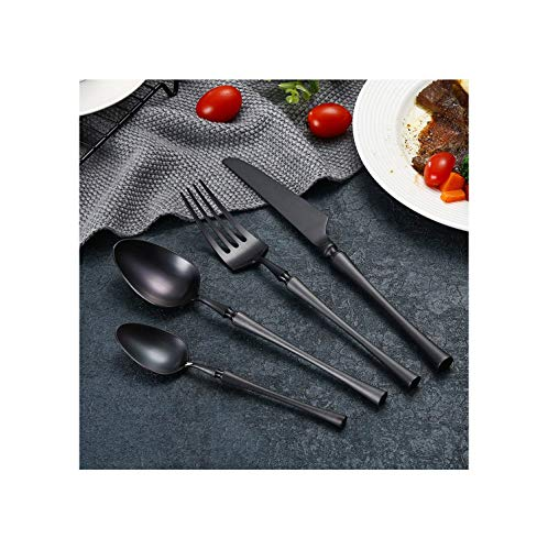 4 Pcs Tungsten Spindle Type Dinnerware Knife 304 Stainless Steel Western Cutlery Kitchen Food Tableware Dinner Set