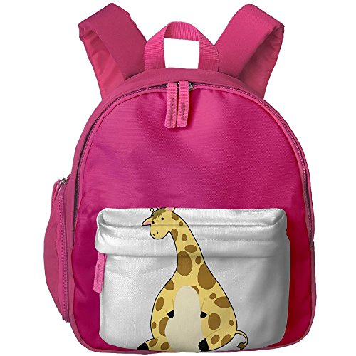 The Giraffe School Backpacks For Children Girls Boys Oxford Printed With Front Pocket Pink - Costume Definition Oxford