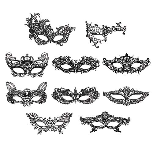 iMucci Sexy Lace Masquerade Party Masks - Venetian