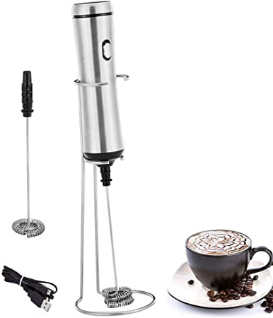 Mousseur à lait électrique Mousseur à acier inoxydable Mousseur à café fant