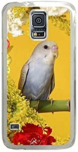Animals & Birds Budgerigars Cases for Samsung Galaxy S5 I9600 with Transparent Skin