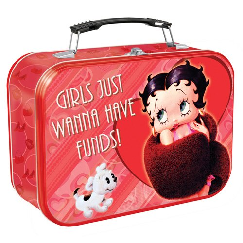 Vandor 10070 Betty Boop Large Tin Tote, Red - Shoe Fund Money Box