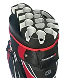 Founders Club Premium 14 Way Organizer Cart Bag (Red)