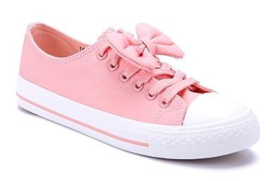 9980921ed0e70c Damen Schuhe Low Sneaker Grau Flach Zierschleife Schuhtempel24 ...