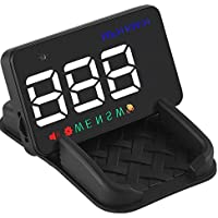 Dikley 3.5 HUD Head Up Display A5 Universal Mini Multi-color LED Windshield HUD with GPS Speed KM/h MPH Speed Warning Compass