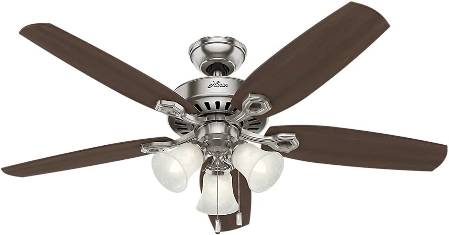 Hunter Builder Plus Indoor Ceiling Fan with LED Lights