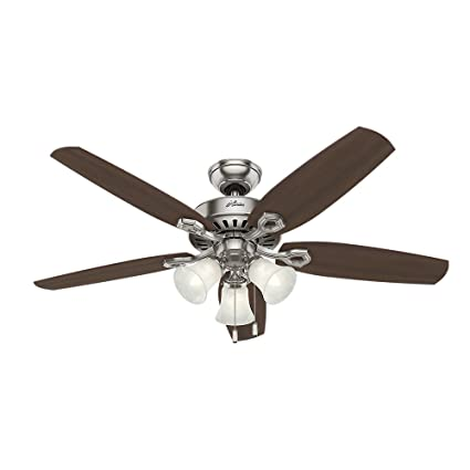 Hunter 53237 builder plus 52 inch ceiling fan with five brazilian hunter 53237 builder plus 52 inch ceiling fan with five brazilian cherryharvest mahogany aloadofball Gallery