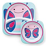 Skip Hop Baby Plate and Bowl Set, Melamine, Butterfly