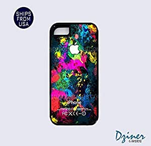 iPhone 5 5s Tough Case - Colorful Paintball Design iPhone Cover