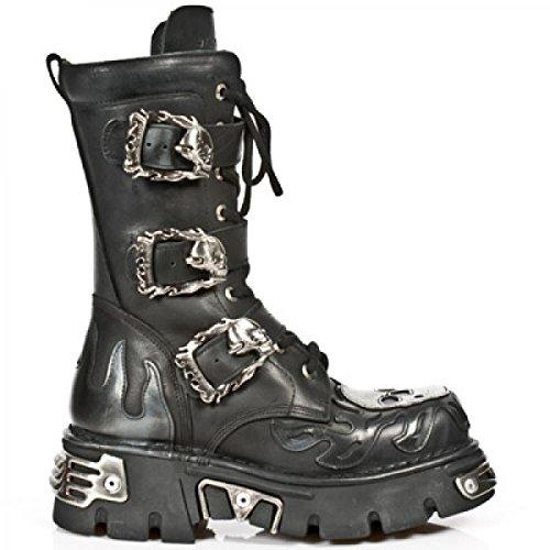 Nuovo Rock A Mano M 711 C10 Schwarz Stiefel Unisex