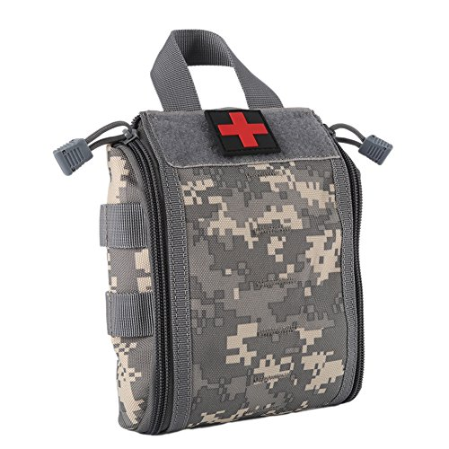 Wynex First Aid EMT Bags, Tactical IFAK Medical Molle Pouch Military Utility Med Emergency EDC Pouches Outdoor Survival Kit Suit for Tactical Waist Belt Pack 1000 Nylon