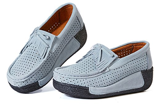 Comfort 11 Women Flats Wedge Shoes Shoes Platform Casual On YZHYXS Grey Slip Sneakers 6R7qUZwwaA