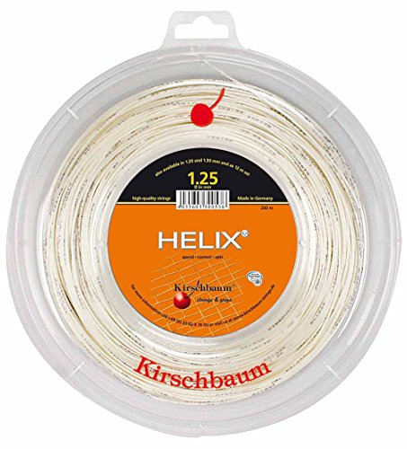 Kirschbaum Set Helix Tennis String, 1.25mm/17-Gauge, White