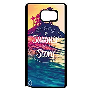Special Hybrid Quotes Sandy Beach Phone Case Cover For Samsung Galaxy Note 5 Sandy Beach Unique Design