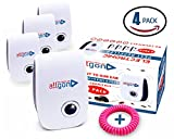 4 Pest Control.Ultrasonic Repellents.Electronic Plug In Pest Repellers ALLGON for Bugs,Rodents,Roaches,Mice,Ants,Flies,Spiders,Mosquitoes Etc.Safe and Natural With Bonus Mosquito Repellent Bracelet.