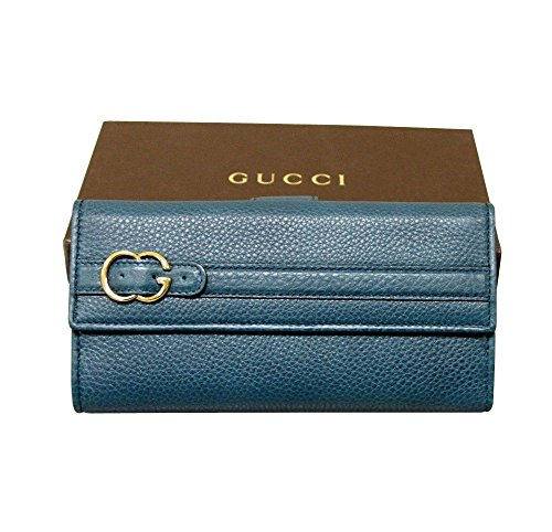 Gucci Wallets Continental Wallet (Gucci Women's Brown Continental Leather Wallet Clutch 270002 (Blue))