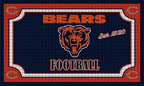 Team Sports America Chicago Bears Embossed Floor Mat, 18 x 30 inches