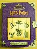 2000 HALLMARK ORNAMENT HOGWARTS 6 PEWTER CHARMS