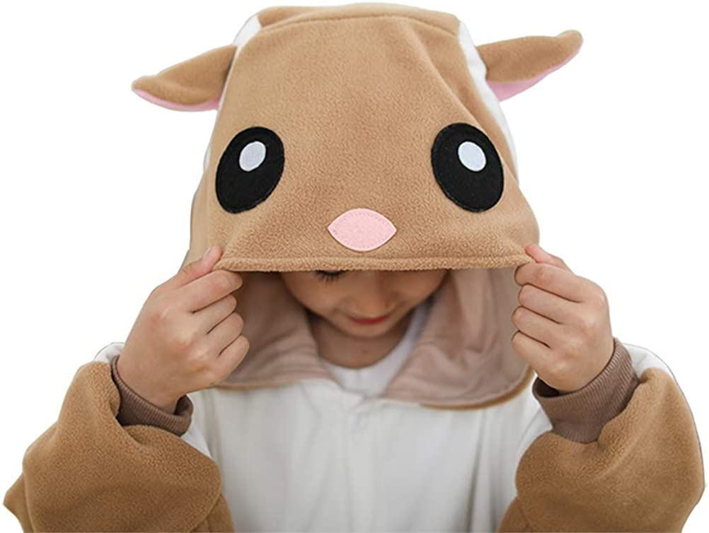 Unisex Children Animal Pajamas Luxury Fleece with Pocket One-Piece Cosplay Costume for Kid Halloween