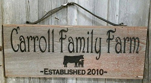 146482a434acf Amazon.com: Personalized Custom Family or Family Farm Sign ~ Rustic ...