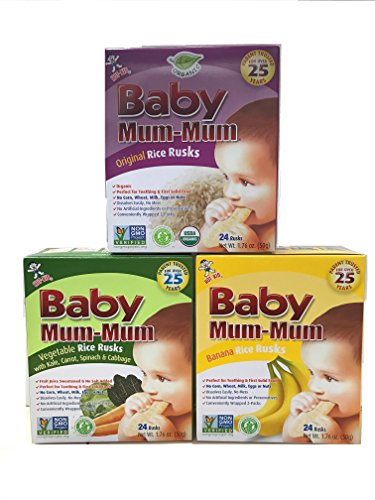 (Baby Mum-Mum Variety Pack of 3 Original Banana and Vegetable 1.76 Oz each)