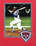 Atlanta Braves 40th Anniversary Commemorative 715 Hank Aaron Double Matted 8x10 Photo - Unsigned