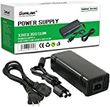 [Updated Version] Power Supply Charger Cord for Xbox 360 Slim Auto Voltage (Black)