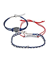 Hasbro Jewelry Unisex Adult Transformers Autobot Arm Party Cord Bracelet, Blue/Red, One Size
