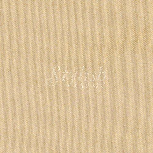 Champagne Solid Poly Poplin Fabric By The Yard - 1 Yard by Stylishfabric   B00MI02C60