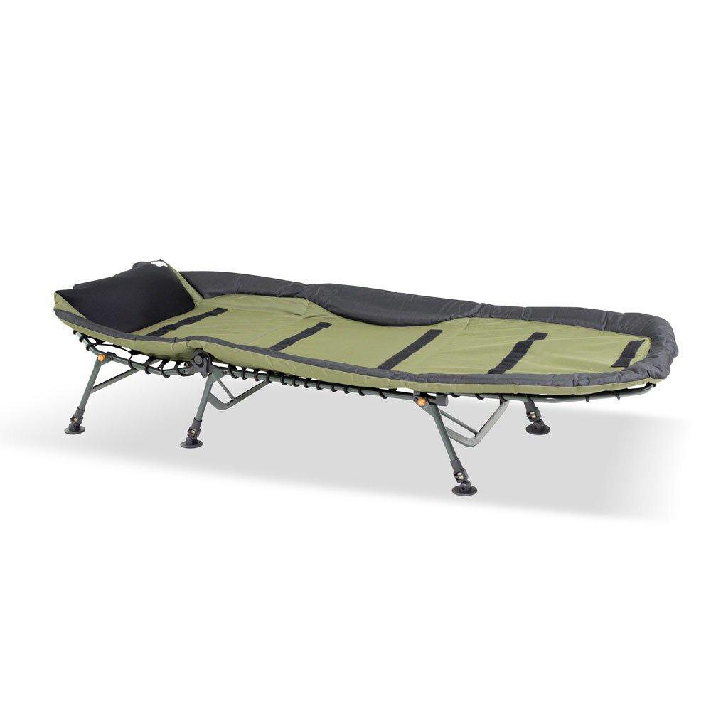 6+2 f/ür Angler Lucx/® Set//Karpfenliege Like a Boss//Angelliege//Bedchair//Liege//Gartenliege inkl Zweibein