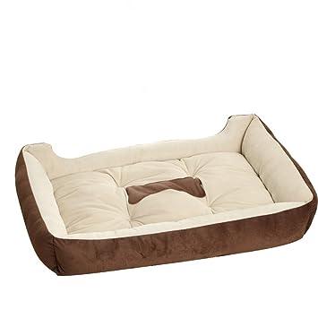 FLAdorepet Gran sofá Cama Grande para Perro caseta Lavable Invierno cálido Forro Polar Golden Retriever Pitbull