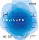 upright double bass 3 4 - D'Addario Helicore Pizzicato Bass Single G String, 3/4 Scale, Medium Tension