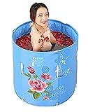 TOYM US Can Be Lifted Folding Bath Tub Adult Inflatable Nylon Jacket Cotton Baby Bath Barrel