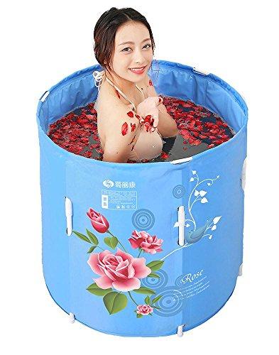 TOYM US Can Be Lifted Folding Bath Tub Adult Inflatable Nylon Jacket Cotton Baby Bath Barrel by Folding Bathtub
